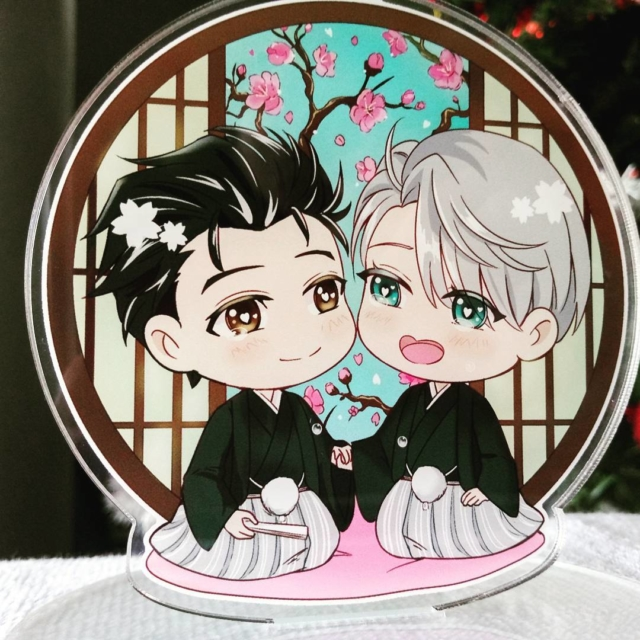 I also got this beautiful Yuri on Ice standee from @emptycicada  THANK YOU!! #fangirlpurchases #yurionice #fanmademerch