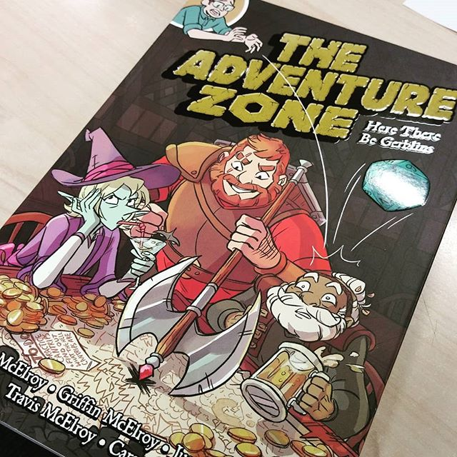 My The Adventure Zone graphic novel arrived!! Cant wait for train ride home from work so i can start reading!! It looks amazing!!! @travismcelroy @justinmcelroy @griffinmcelroy @01firstsecond @careydraws